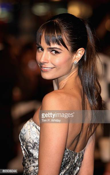 Jordana Brewster arrives for the UK Premiere of Fast and Furious 4 at Vue West End cinema in Leicester Square on March 19 2009 in London England