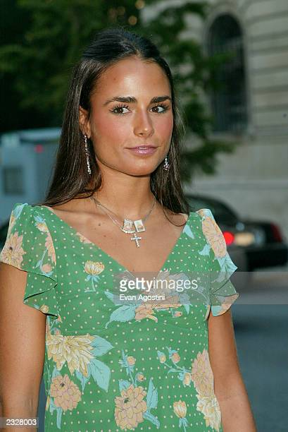 Jordana Brewster arriving at the Coach celebrates summer cocktail party at the CooperHewitt National Design Museum in New York City July 24 2002...