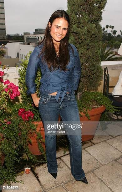 Jordana Brewster at the Frederick Fekkai Salon in Beverly Hills California