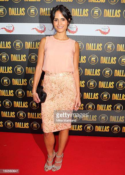 Jordana Brewster attends a party to celebrate the new Channel 5 television series of 'Dallas' at Old Billingsgate on August 21 2012 in London United...