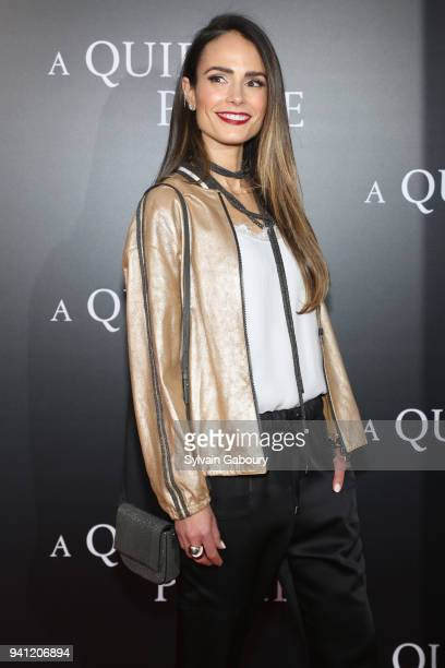 Jordana Brewster attends New York Premiere of A Quiet Place on April 2 2018 in New York City