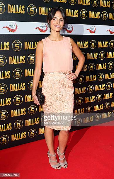 Jordana Brewster attends party to celebrate the new Channel 5 television series of 'Dallas' at Old Billingsgate on August 21 2012 in London United...