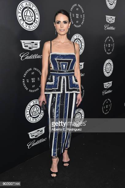 Jordana Brewster attends The Art Of Elysium's 11th Annual Celebration on January 6 2018 in Santa Monica California