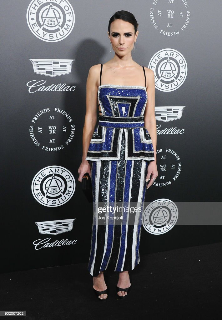 Jordana Brewster attends The Art Of Elysium's 11th Annual Celebration - Heaven at Barker Hangar on January 6, 2018 in Santa Monica, California.