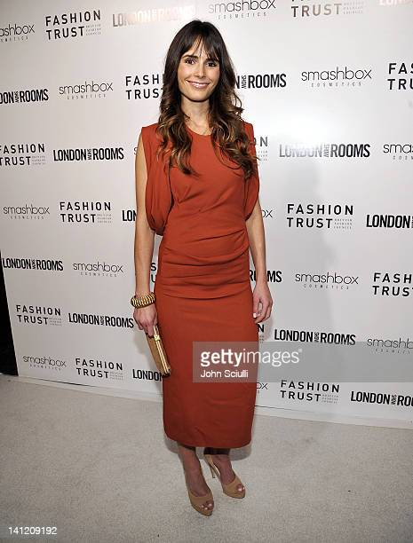 Jordana Brewster attends the British Fashion Council's LONDON Show ROOMS LA opening cocktail party at Smashbox Studios on March 12 2012 in West...