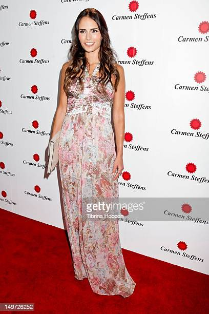 Jordana Brewster attends the Carmen Steffens U.S. West coast flagship store opening at Hollywood & Highland Center on August 2, 2012 in Hollywood,...