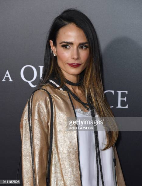 Jordana Brewster attends the Paramount Pictures premiere for 'A Quiet Place' at AMC Lincoln Square Theater on April 2 2018 in New York City / AFP...