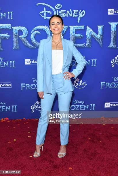 Jordana Brewster attends the premiere of Disney's Frozen 2 at Dolby Theatre on November 07 2019 in Hollywood California