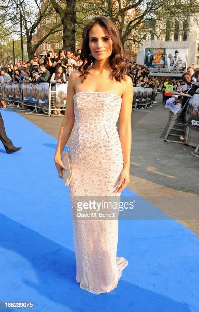 Jordana Brewster attends the World Premiere of 'Fast Furious 6' at Empire Leicester Square on May 7 2013 in London England
