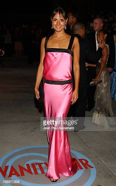 Jordana Brewster during 2004 Vanity Fair Oscar Party Arrivals at Mortons in Beverly Hills California United States