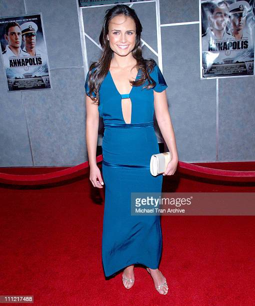 Jordana Brewster during Annapolis Los Angeles Premiere Arrivals at El Capitan Theatre in Hollywood California United States