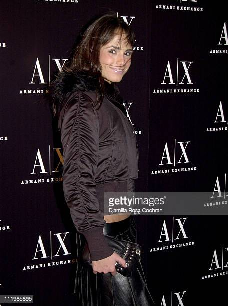 Jordana Brewster during Armani Exchange Nightclub in the Sky Party at Hudson Studios in New York City New York United States