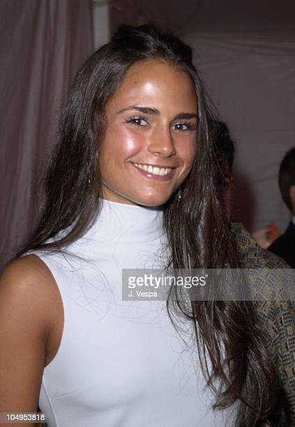 Jordana Brewster during Chanel Fall/Winter 2001 Ready to Wear Collection Fashion Show at Villa Maria in Water Mill New York United States