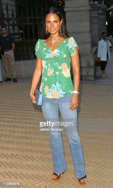 Jordana Brewster during Cocktails In The Garden: Coach Celebrates Summer at The Cooper-Hewitt National Design Museum in New York City, New York,...