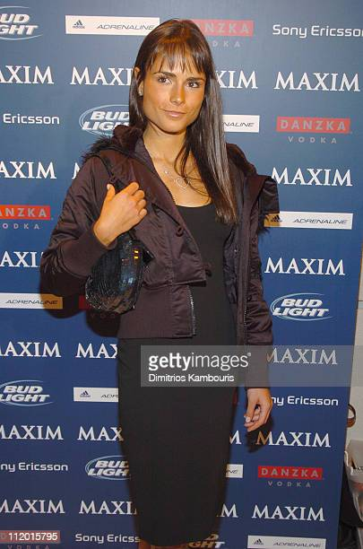 Jordana Brewster during Maxim SNO Party Hosted by January Cover Girl Michelle Branch at Marque in New York City New York United States