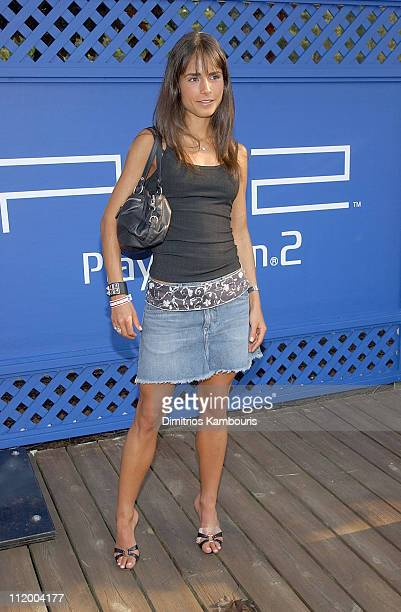 Jordana Brewster during PlayStation 2 Celebrates Red White and Blue with Poolside Party at PlayStation 2 Hotel at The Bentley in Southampton New York...