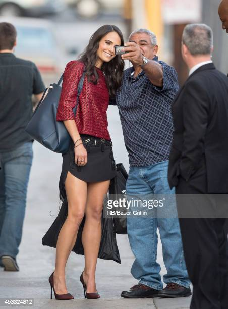 Jordana Brewster is seen at 'Jimmy Kimmel Live' on August 07 2014 in Los Angeles California