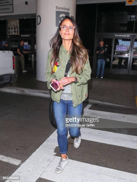 Jordana Brewster is seen at Los Angeles International Airport on May 03 2018 in Los Angeles California