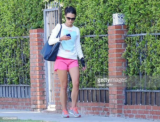 Jordana Brewster is seen in Los Angeles on September 22 2014 in Los Angeles California