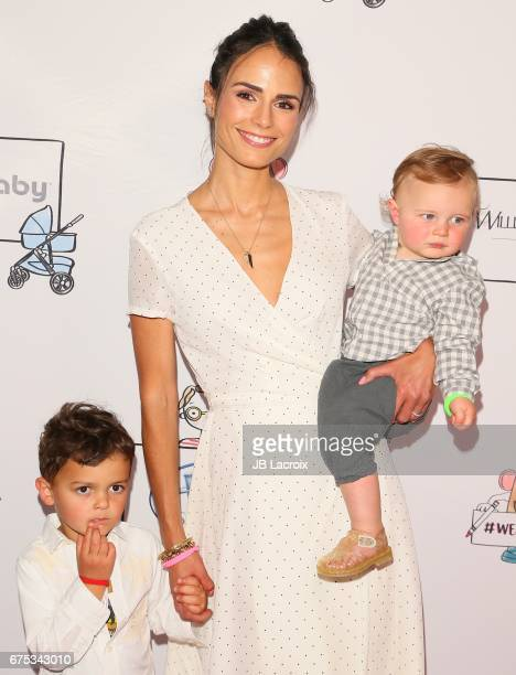 Jordana Brewster Julian BreswterForm and Rowan BrewsterForm attend Zimmer Children's Museum Event on April 30 2017 in Los Angeles California