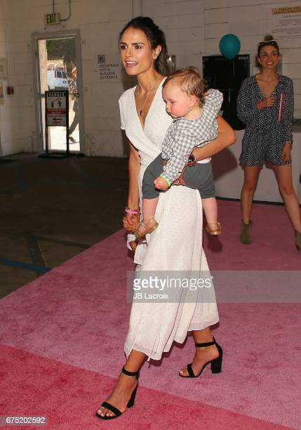 Jordana Brewster Julian FormBrewster and Rowan BrewsterForm attend Zimmer Children's Museum Event on April 30 2017 in Los Angeles California