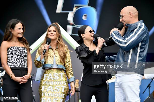 Jordana Brewster Maria Menounos Michelle Rodriguez and Vin Diesel speak onstage during attends Universal Pictures Presents The Road To F9 Concert and...