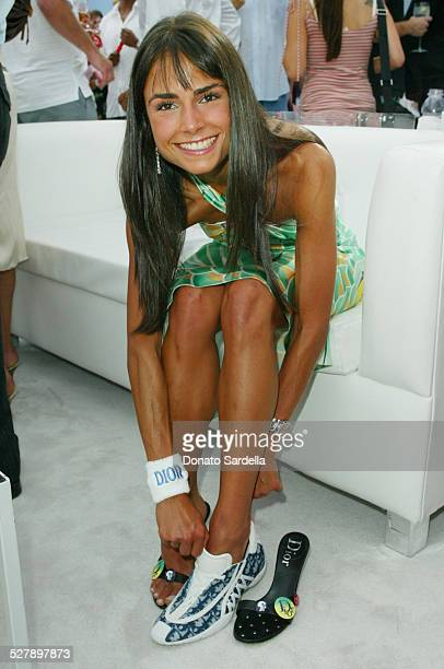 Jordana Brewster with Dior Sport Shoe A portion of the proceeds from this shoe will benefit the Aaliyah Memorial Fund