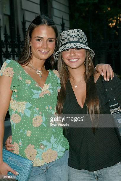 Jordana Brewster with her sister Isabella arriving at the Coach celebrates summer cocktail party at the CooperHewitt National Design Museum in New...