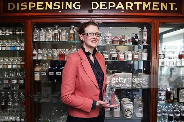 Jordana Martin poses on August 1 2013 in Sydney Australia To celebrate World Breastfeeding Week The Pharmacy Guild of Australia was presented with...
