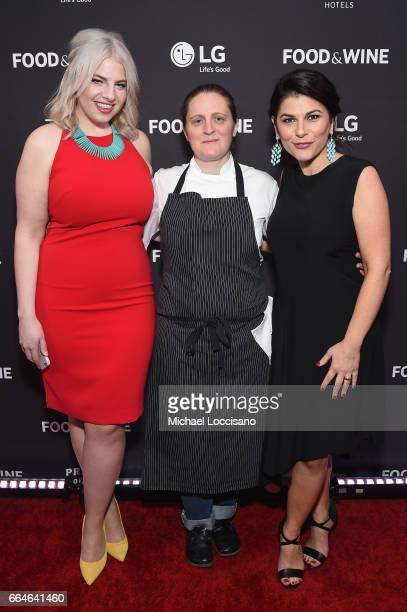 Jordana Rothman Chef April Bloomfield of The Spotted Pig and Nilou Motamed Editor of Time Inc's Food Wine attends the Food Wine Celebration of the...