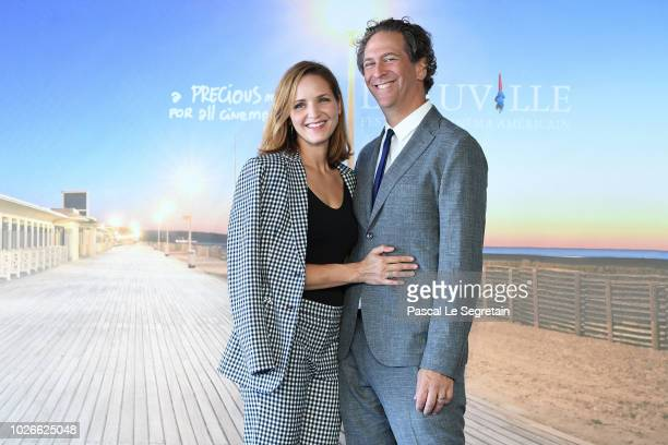 Jordana Spiro and husband and producer Matthew Spizer attend the photocall for Night Comes On on September 4 2018 in Deauville France