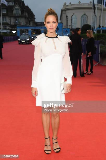 Jordana Spiro attends Night Comes On film Premiere on September 4 2018 in Deauville France