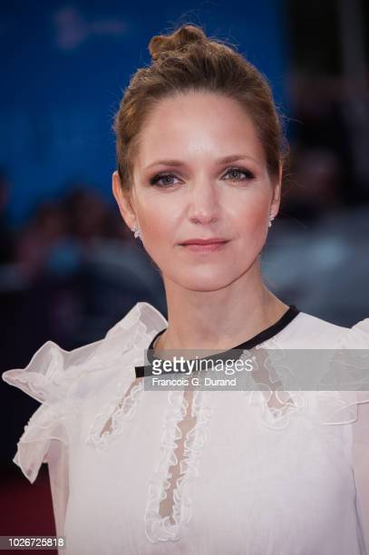 Jordana Spiro attends the premiere for 'The Sister Brothers' 'Les Freres sisters' during the 44th Deauville American Film Festival on September 4...