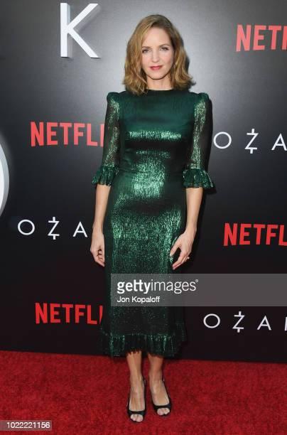 "Jordana Spiro attends the premiere of Netflix's ""Ozark"" Season 2 at ArcLight Cinemas on August 23, 2018 in Hollywood, California."