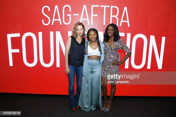 Dominique Fishback during the SAGposes during AFTRA Foundation Conversations 'Night Comes On' with Dominique Fishback and Jordana Spiro at SAGAFTRA...