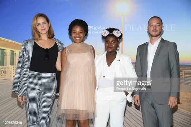 Jordana Spiro Dominique Fishback Tatum Marylin Hall and Alvaro R Valente attend the photocall for Night Comes On on September 4 2018 in Deauville...