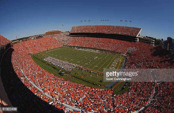 JordanHare Stadium is sold out to see the Auburn Tigers play the LSU Tigers in a game on September 18 2004 at JordanHare Stadium in Auburn Alabama