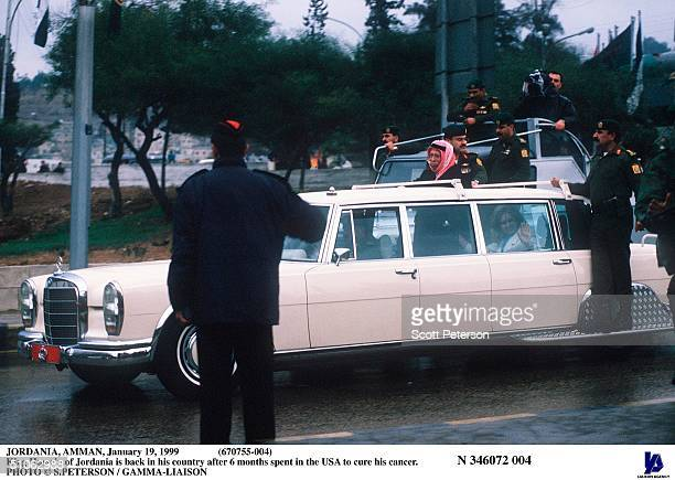 Jordania Amman January 19 1999 King Hussein Of Jordania Is Back In His Country After 6 Months Spent In The Usa To Cure His Cancer