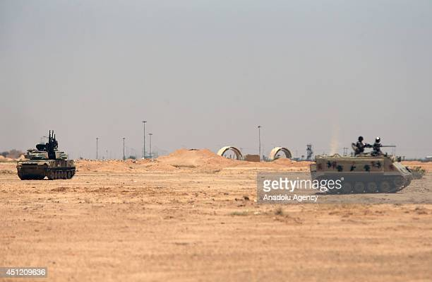 Jordanian army deploy its troops and armoured vehicles at the Karameh Border Crossing between Jordan and Iraq some 320 km south of Jordan's capital...