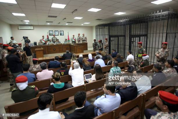 Jordanian judges preside over the trial of Maarik AlTawaiha charged with the killing of three American military trainers outside an army base last...