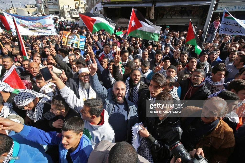 JORDAN-PALESTINIAN-ISRAEL-US-POLITICS-JERUSALEM : News Photo