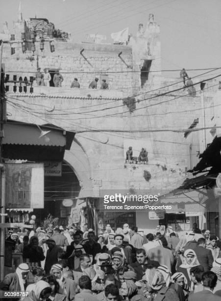 Jordanian sector of Jerusalem during visit by Pope Paul VI