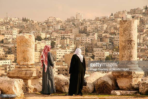 Jordanians Look out over Amman