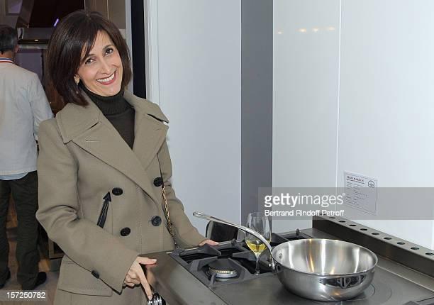 Jordan's ambassador to France, Dina Kawar, attends a traditional craftsman food tasting at La Cornue on November 30, 2012 in Paris, France.