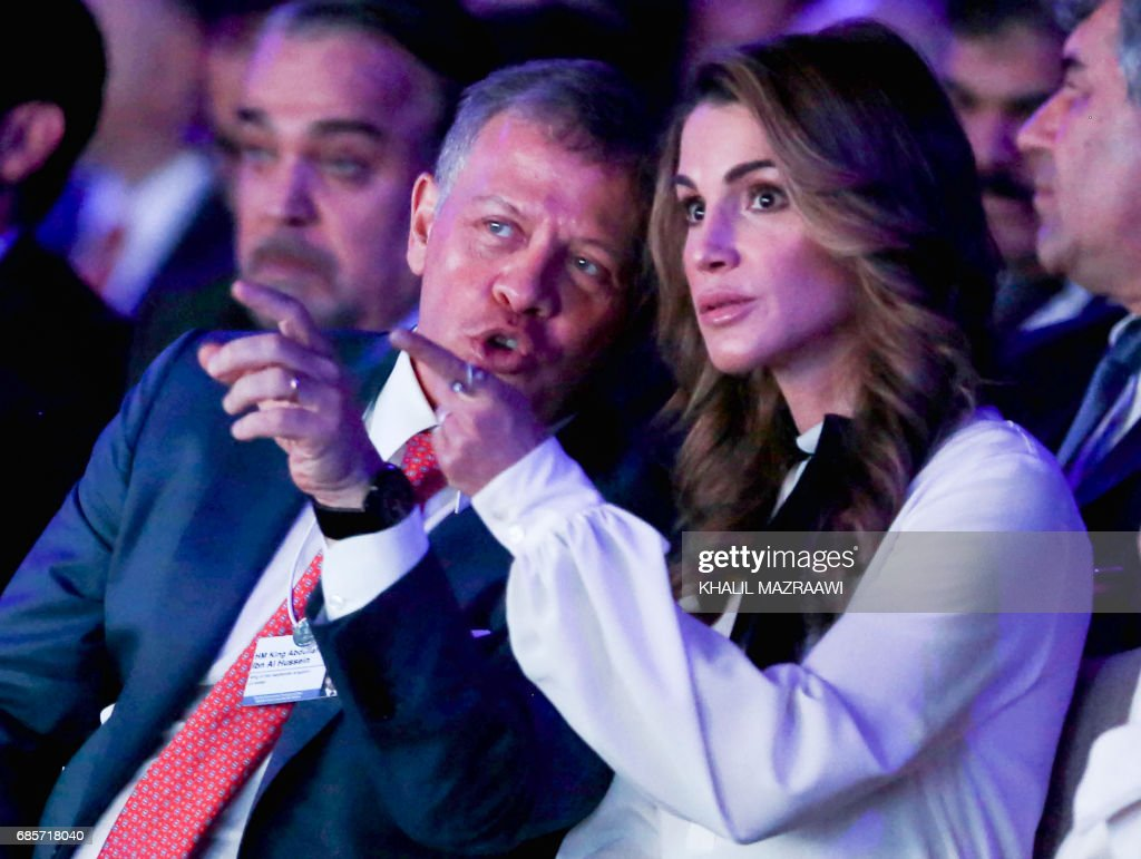Jordan S King Abdullah Ii And His Wife Queen Rania Attend The Opening Photo D Actualite Getty Images