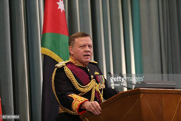 Jordan's King Abdullah II attends the State opening of the Parliament on November 7 in Amman Jordan King Abdullah addressed the recently elected 18th...