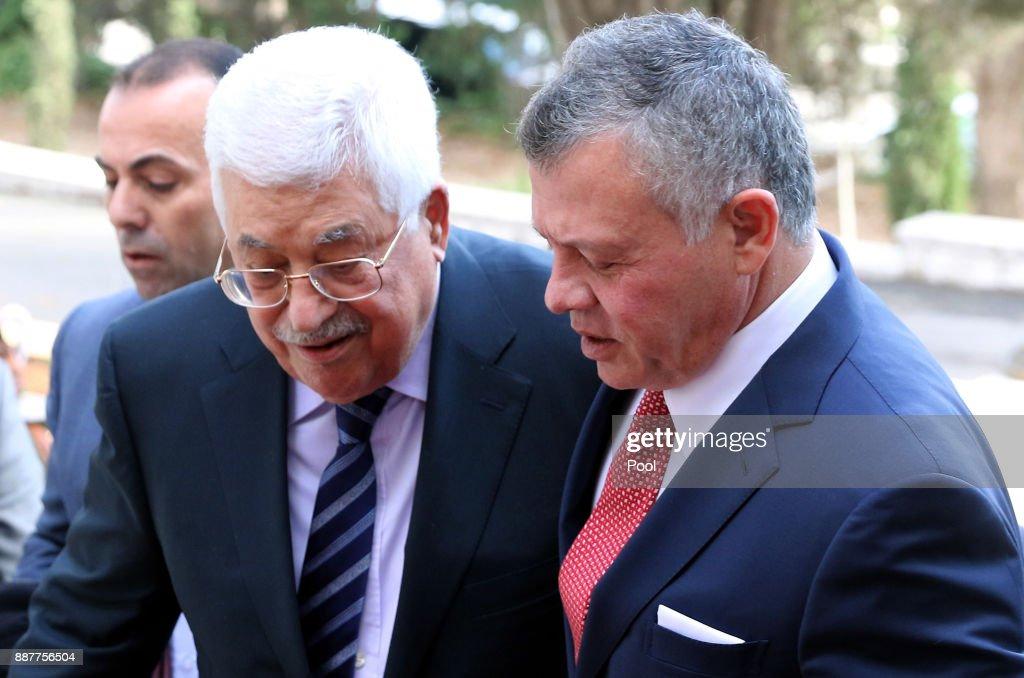 Mahmud Abbas in Jordan : News Photo