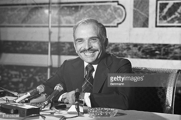 Jordan's Leader. Paris, France: Jordan's King Hussein holds a press conference, September 6, during a visit to Paris.