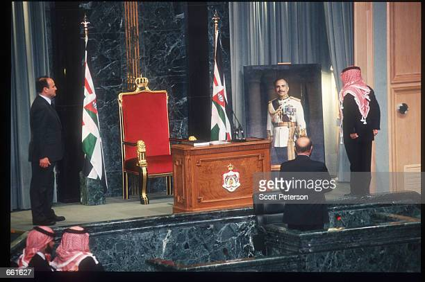 Jordan's new King Abdullah is sworn in February 8 1999 in Amman Jordan King Hussein chose his son as his successor just two weeks before dying of...