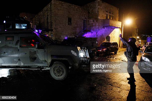 Jordan's security forces carry out operation after the gunmen attacked several police patrols in the southern city of Karak Jordan on December 18...